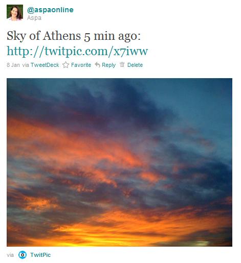 """Sky of Athens"""