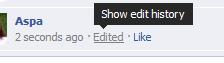 Facebook: Ιστορικό επεξεργασίας