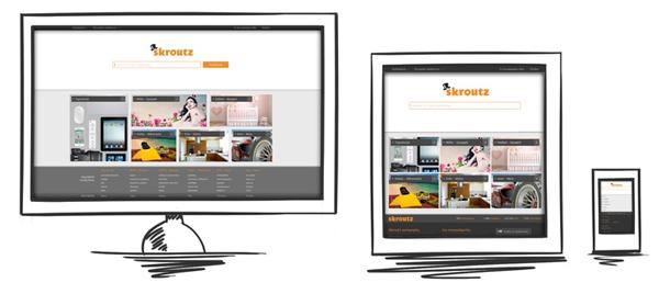 Skroutz responsive design