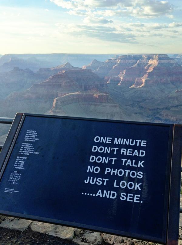 Πινακίδα στο Grand Canyon
