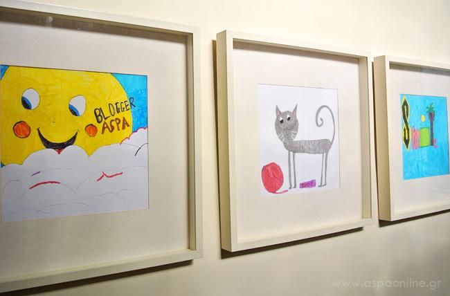 Διακόσμηση με ζωγραφιές παιδιών (μετά)