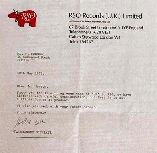 Γράμμα απόρριψης στους U2