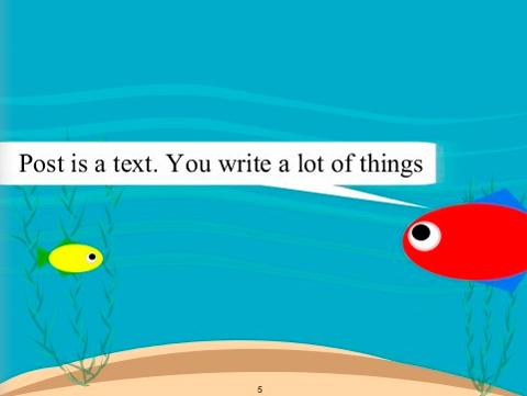 Το post είναι κείμενο. Μπορείς να γράφεις πολλά πράγματα.