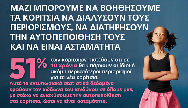 Infographic Ασταμάτητη σαν κορίτσι