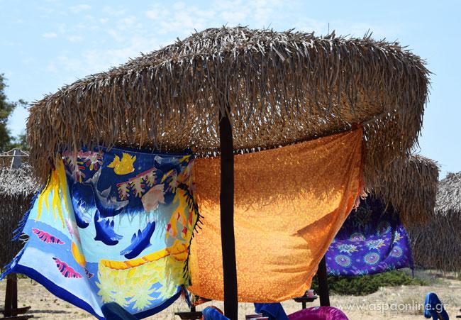 Ιδέες και κόλπα για την παραλία: Παρεό για σκιά