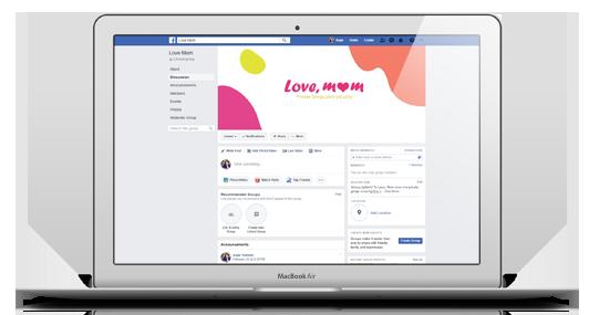 Love, mom, facebook group